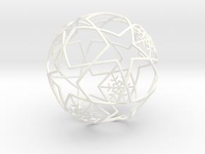 iFTBL Xmas Frozen Stars Ball - Ornament 60mm in White Processed Versatile Plastic