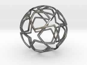 iFTBL Ornament / Star Ball - 40 mm in Polished Nickel Steel