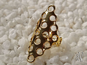 Round Bee 6T Closed Ring in 14k Gold Plated: 10 / 61.5