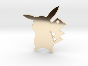 Pikachu Pendant in 14k Gold Plated Brass