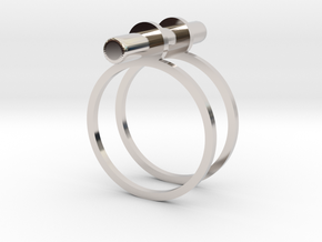 Cerc - Size 6 US in Rhodium Plated Brass