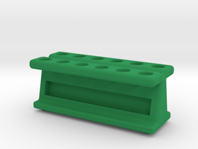 New and Improved! 12 Tube Mag Stand V2 in Green Processed Versatile Plastic