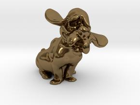 Hound Dog  in Polished Bronze