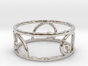 Golden Spiral Ring Size 7 (3 normal spirals) in Platinum