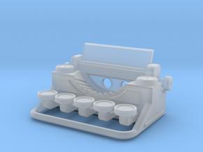 Typewriter Pendant in Smooth Fine Detail Plastic