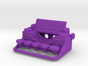 Typewriter Pendant in Purple Processed Versatile Plastic