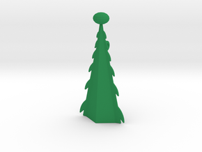 Christmas Tree Pendant. in Green Processed Versatile Plastic