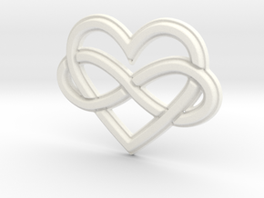 Polyamory Charm in White Processed Versatile Plastic