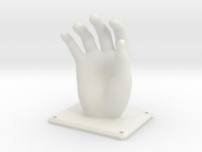 Hand Hanger in White Natural Versatile Plastic