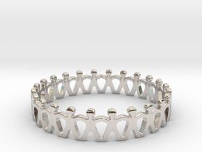 Friendship Ring in Rhodium Plated Brass