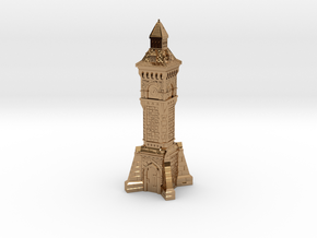 N Gauge Victorian Clock Tower in Polished Brass