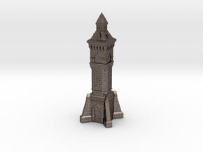 N Gauge Victorian Clock Tower in Polished Bronzed Silver Steel