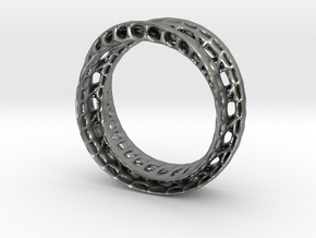 Twistedbond ring 21.2mm in Natural Silver