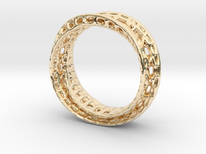 Twisted Bond Ring 18,5mm in 14k Gold Plated Brass