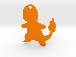 Charmander Pendant in Orange Processed Versatile Plastic
