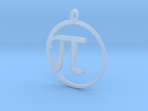 Pi Pendant in Smooth Fine Detail Plastic