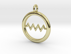 Resistor Symbol Pendant in 18k Gold Plated Brass