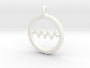 Resistor Symbol Pendant in White Processed Versatile Plastic