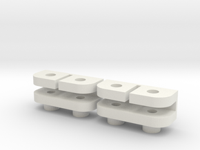 Savöx 1251MG Clamp 2,5mm in White Natural Versatile Plastic