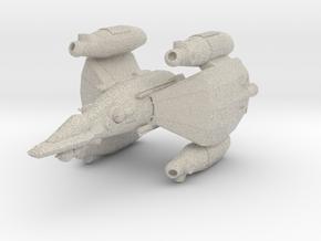 Gunstar - Starfighter in Natural Sandstone