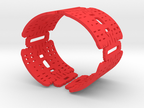 Primitive Grid Cuff in Red Strong & Flexible Polished