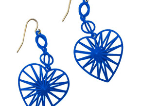 Radiant Heart Earrings in White Natural Versatile Plastic