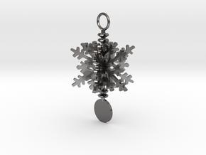 Snowflake Ornament in Polished Nickel Steel