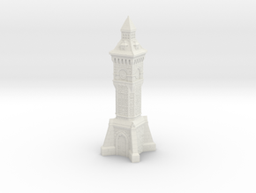 28mm/32mm scale Victorian clock Tower in White Strong & Flexible