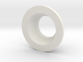 Bearing Holder in White Natural Versatile Plastic