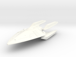 Runner Class Fast Destroyer in White Processed Versatile Plastic