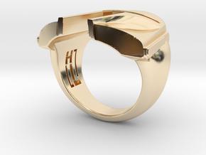 Boba Fett ring in 14K Yellow Gold