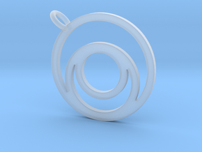Nested Circles Pendant in Smooth Fine Detail Plastic