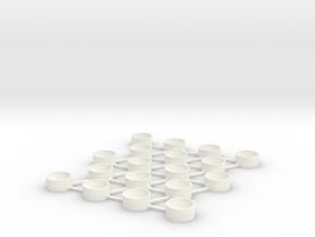 Bottle Cap Coaster in White Processed Versatile Plastic