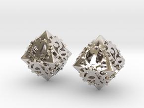 {pendants} Dice earrings in Rhodium Plated Brass