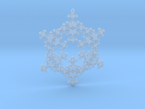 Snowflake Fractal 1 Customizable in Smooth Fine Detail Plastic