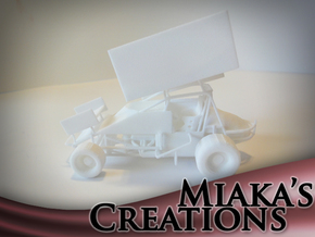 Sprint Car 1/43 Scale in White Natural Versatile Plastic