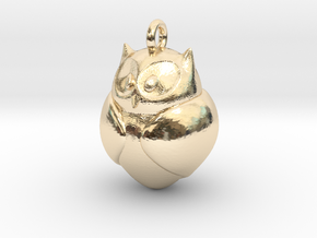 Owl Pendant in 14K Yellow Gold