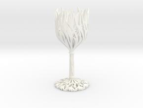Wine Glass - Antiques in White Processed Versatile Plastic