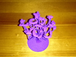 'I Love You' Tree in Purple Processed Versatile Plastic