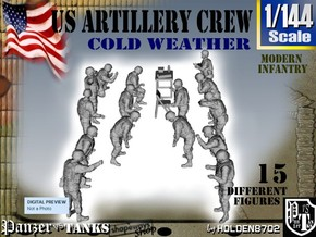 1-144 US Artillery Crew Cold Weather in Frosted Ultra Detail