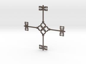 Keyflake in Polished Bronzed Silver Steel