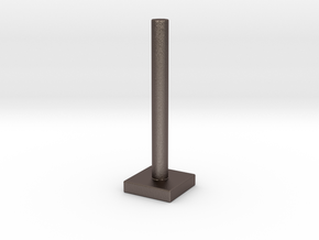 Mini Festivus Pole in Polished Bronzed Silver Steel