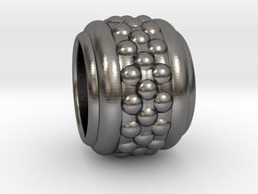 BubbleRing Alfa in Polished Nickel Steel