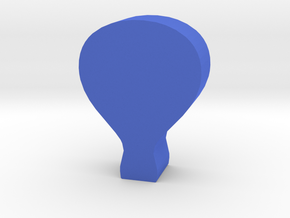 Game Piece, Hot Air Balloon in Blue Strong & Flexible Polished