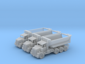 Tri Axle Cylinder Dump Truck Z Scale in Smooth Fine Detail Plastic