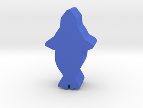 Game Piece, Seal, above view in Blue Processed Versatile Plastic