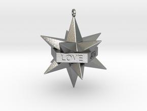 Star Ornament in Natural Silver