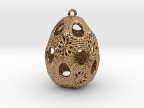 Christmas Egg 1 - Ha in Polished Brass