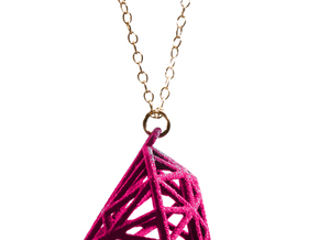 Rock Star Diamond Pendant in White Strong & Flexible