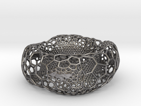 Frohr Design Voronoi Heavy Bracelet in Polished Nickel Steel